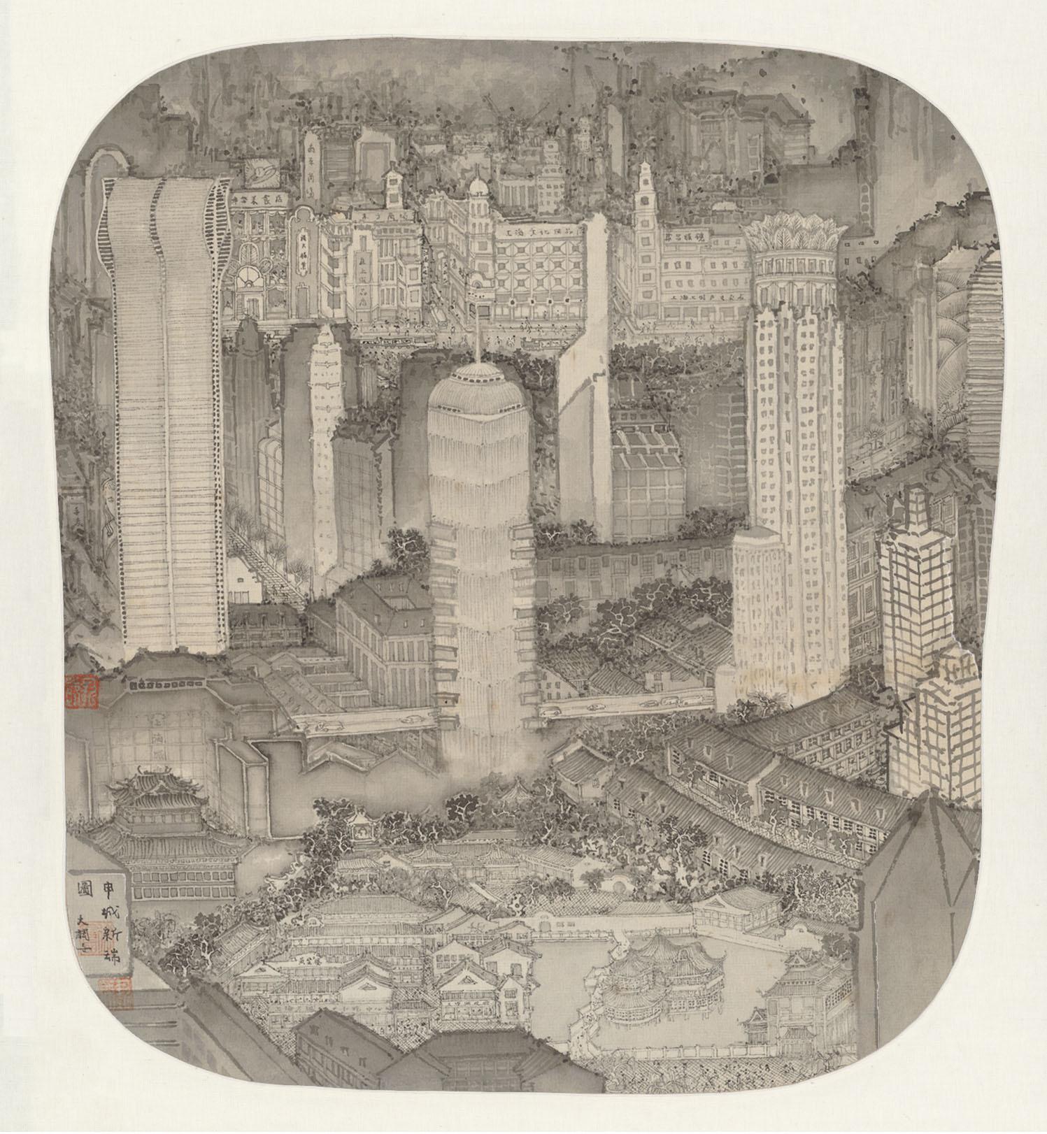 Reconstructing New Shanghai- ink 申城新瑞图-水墨